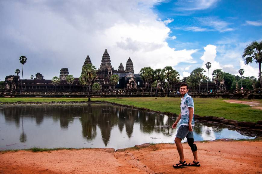Student at Angkor Wat