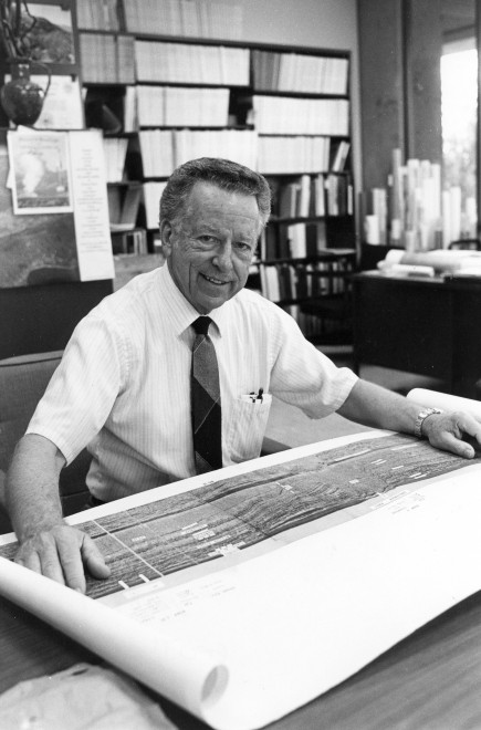George Thompson views geologic data