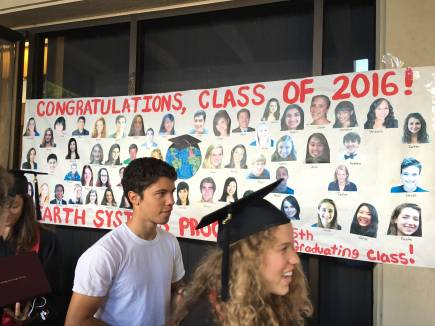 Students in front of ESYS poster