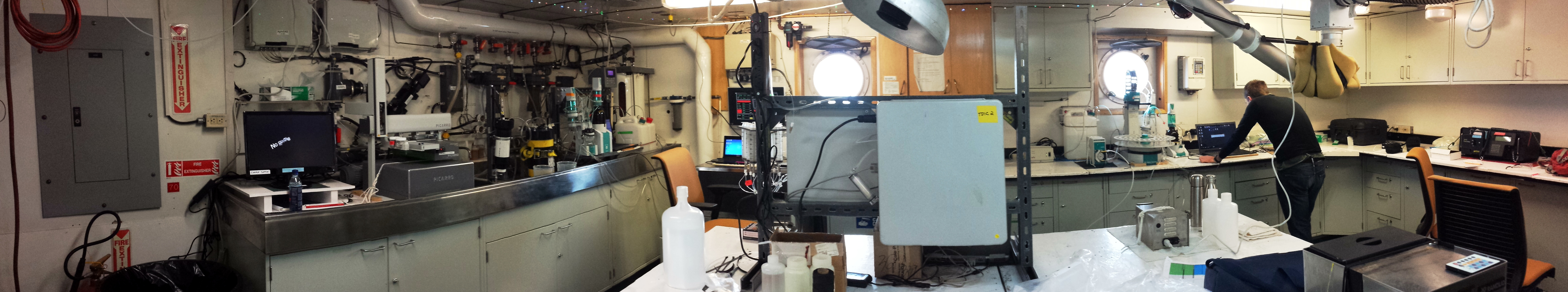 Lab setup in Antarctica