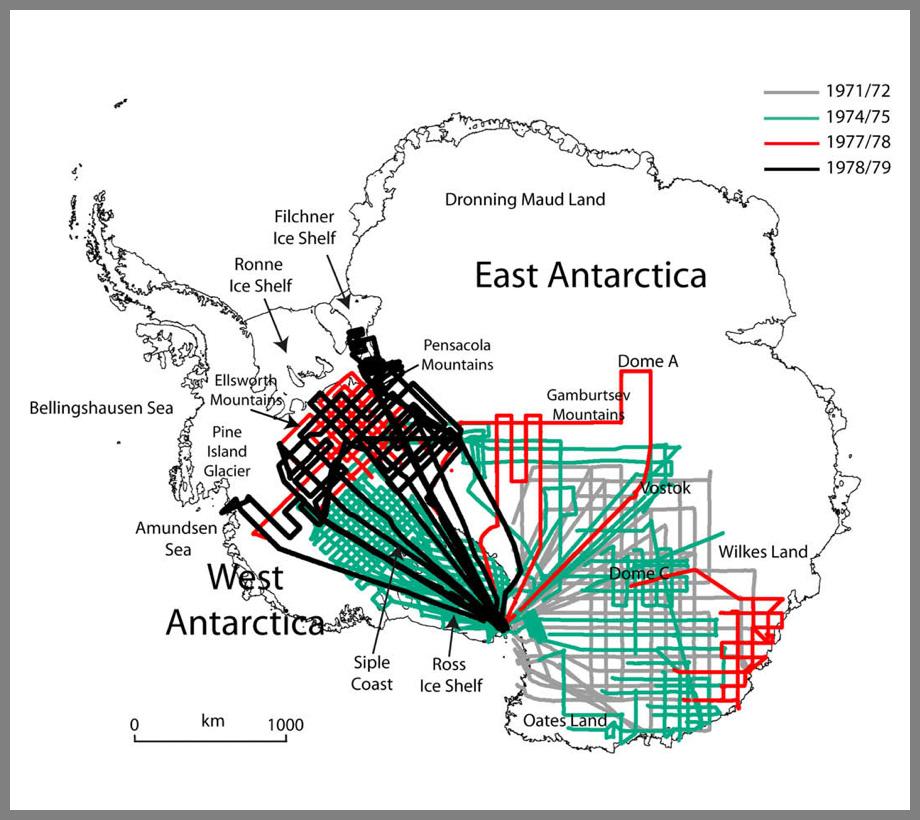 Antarctica flight maps