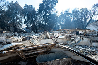 CZU Lightning Complex fire damage