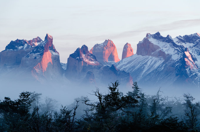 Torres del Paine in Chile by Nora Hennessy