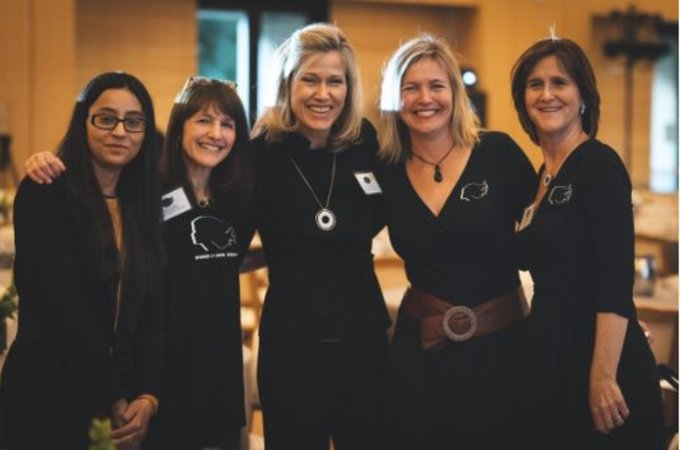 Speakers and organizers of the 2018 Women in Data Science conference