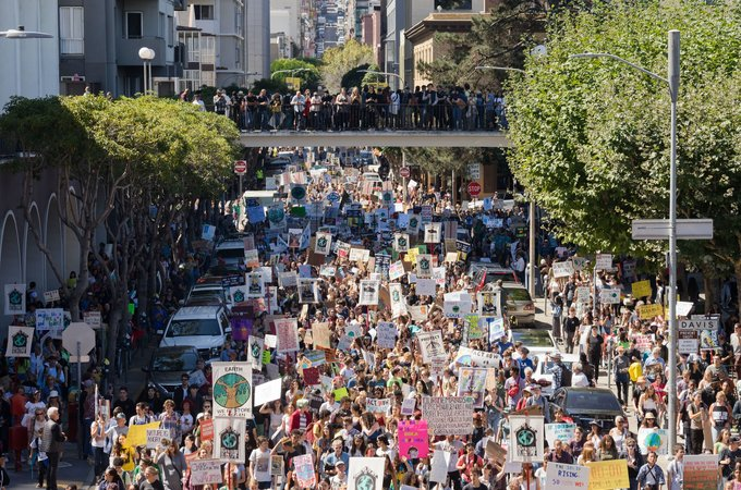 A climate rally in San Francisco.