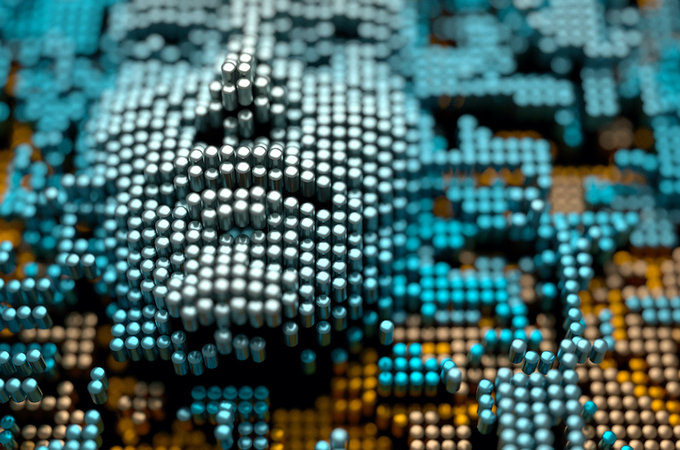 computer chip image of face
