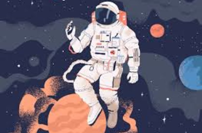 graphic illustration of astronaut