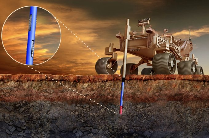 Illustration of Mars rover concept