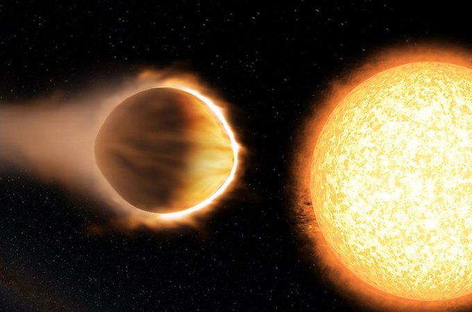 Artist's illustration of the exoplanet WASP-121b