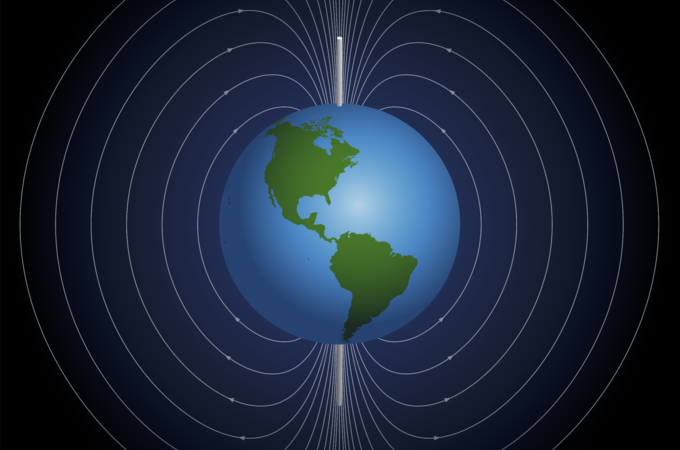 geophysics graphic of globe