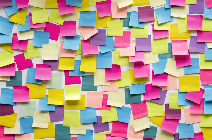 sticky notes by istock