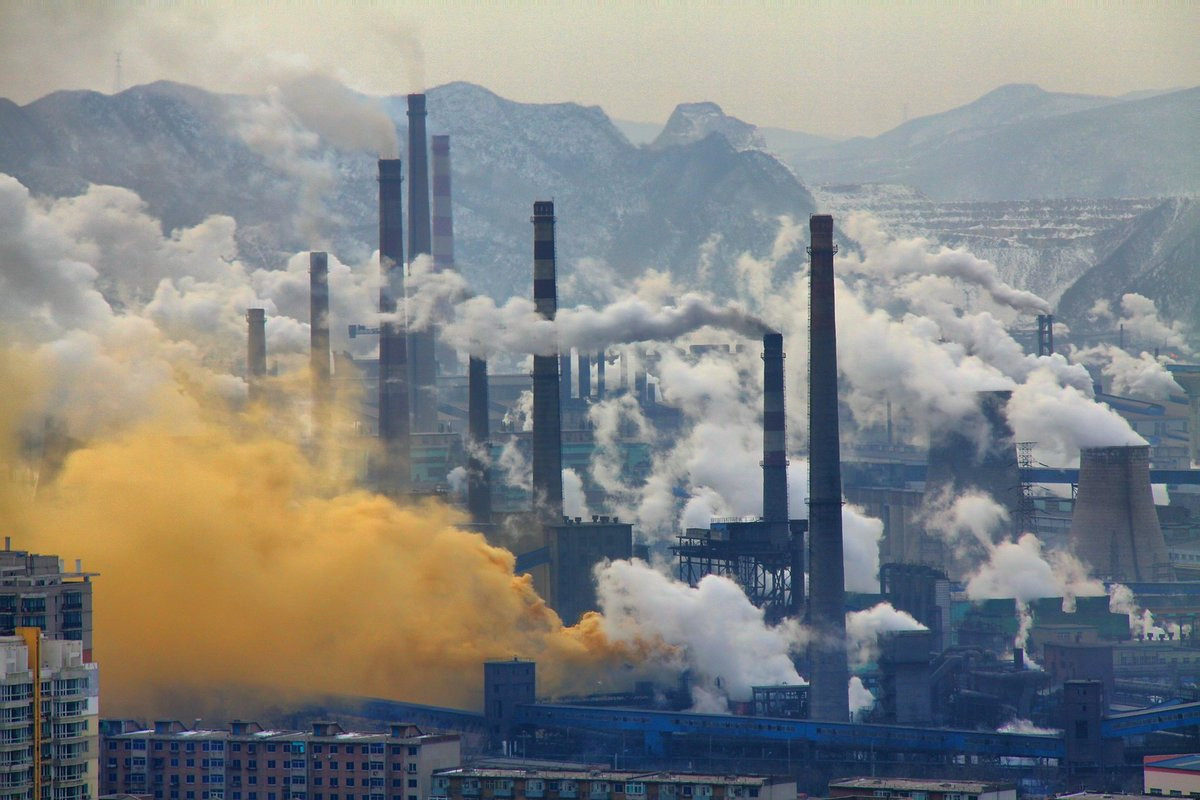 Steel industry in Benxi, China.