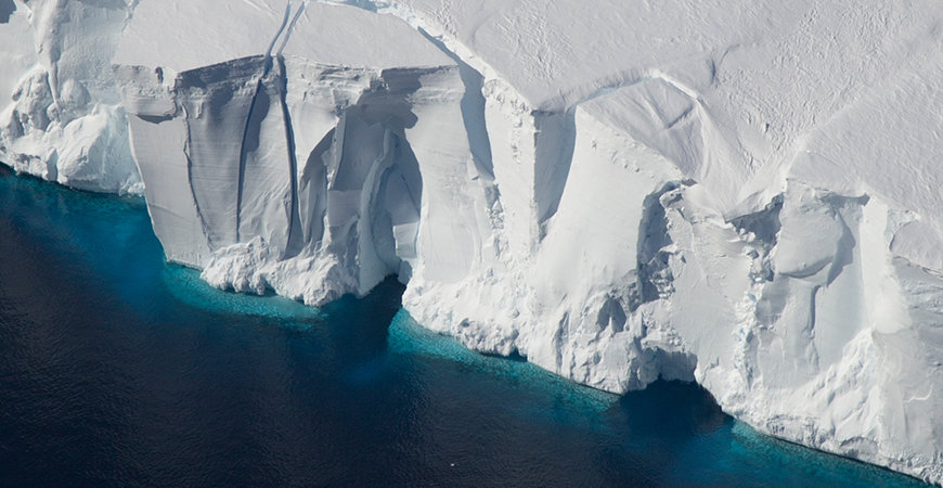 The front of Antarctica's Getz Ice Shelf. Photo credit: Jeremy Harbeck/NASA