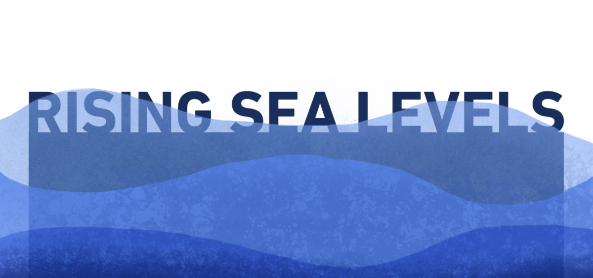 rising sea levels illustration