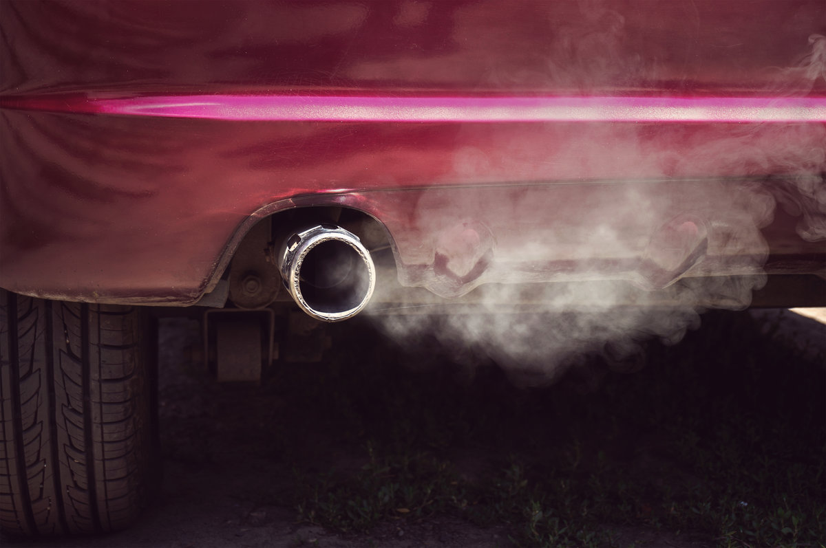 exhaust from car