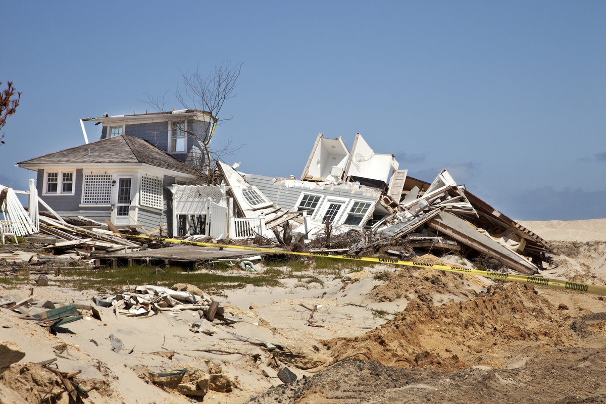 Destroyed beach home.