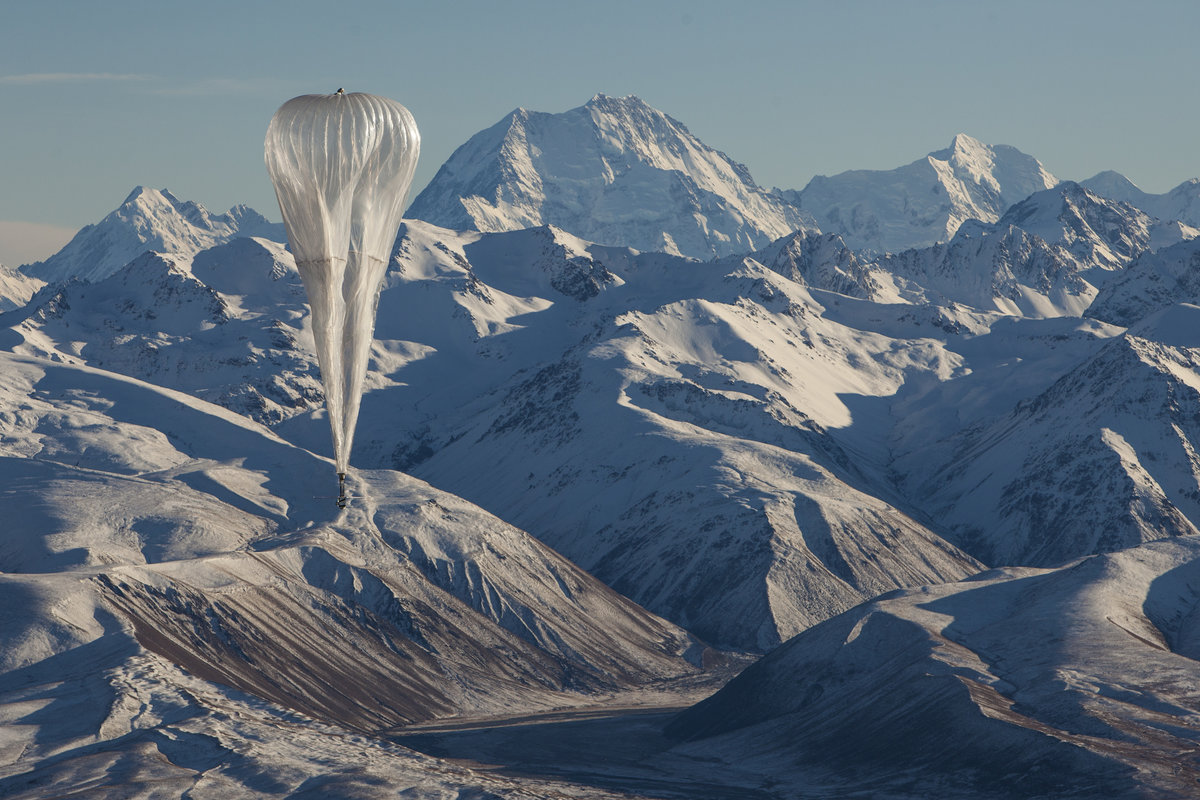 Loon balloon in flight