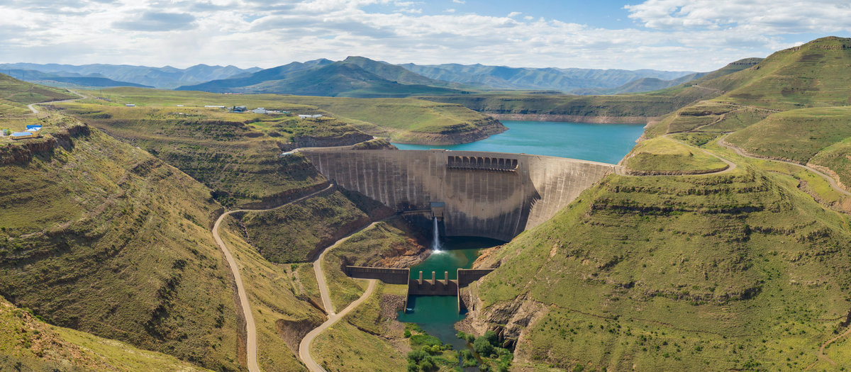 Katse Dam in Lesotho, South Africa