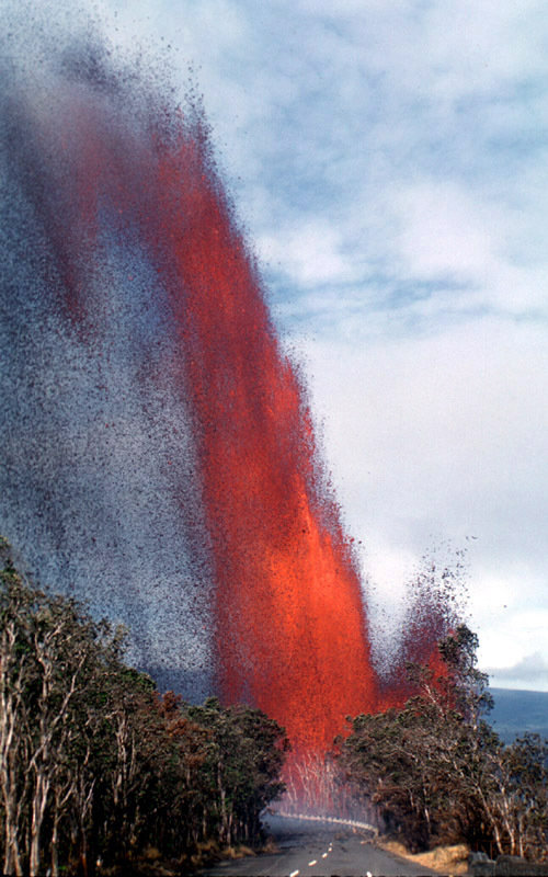 Kilauea lava fountain