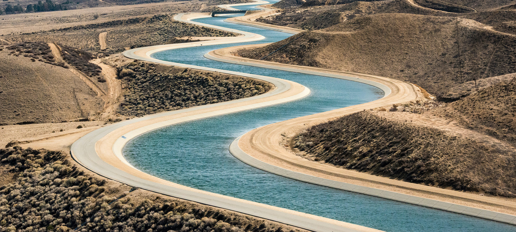 East Branch California Aqueduct in Palmdale, Calif. in 2014