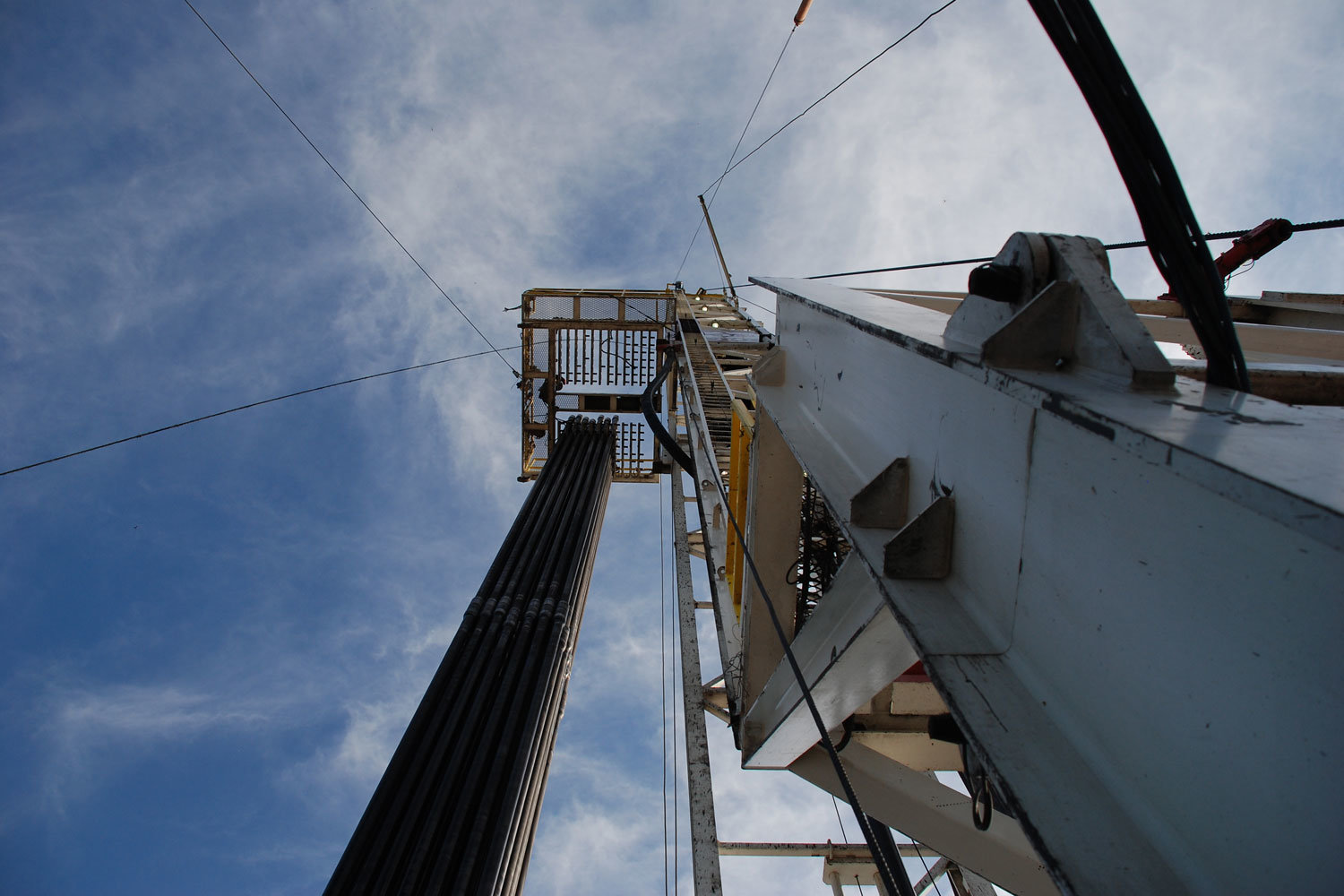 drill rig in Fayetteville Shale gas play in Arkansas