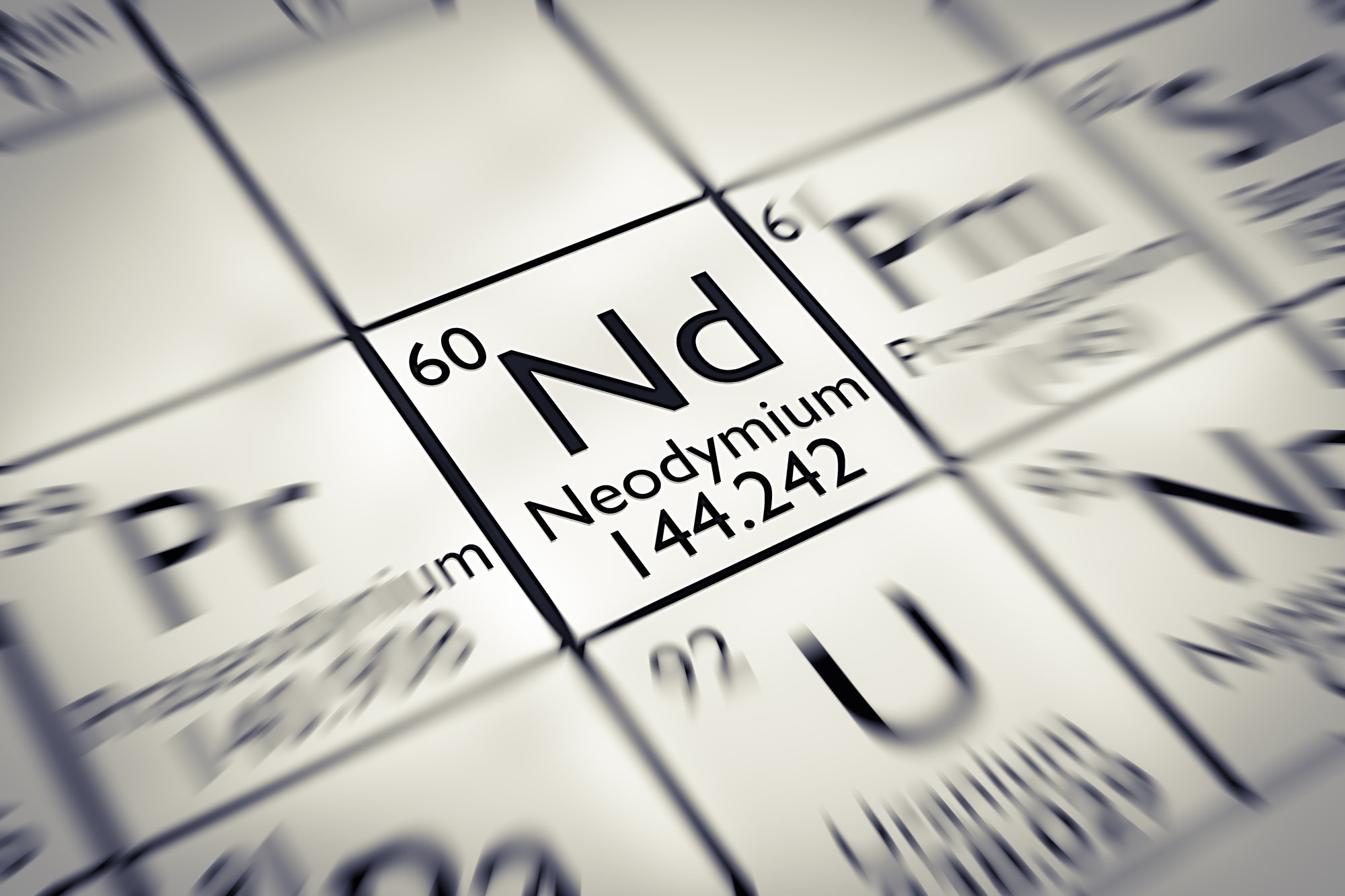 neodymium on the periodic table