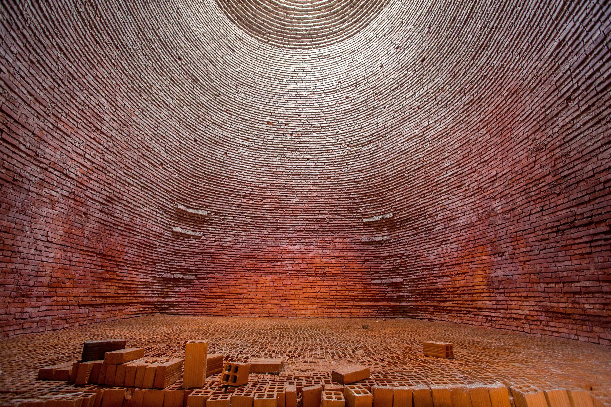 inside of a brick kiln
