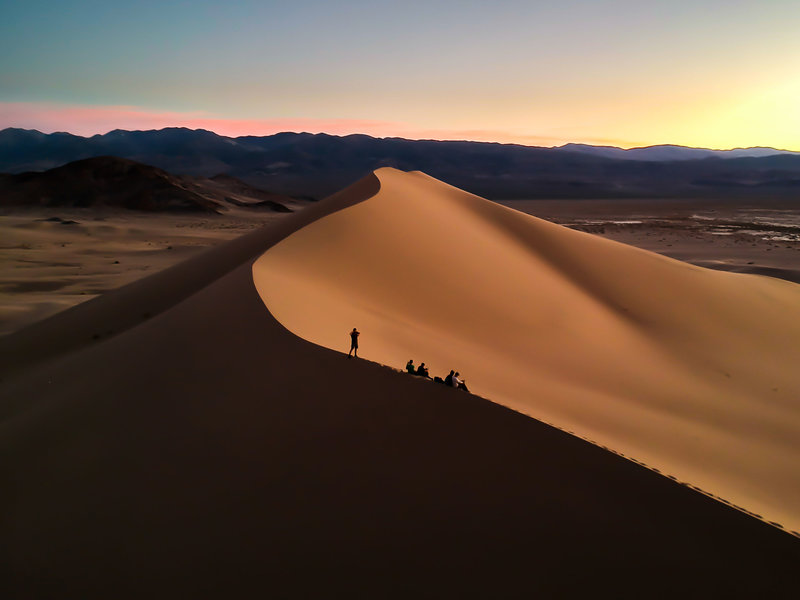 Sunset at Ibex Dunes in Death Valley National Park