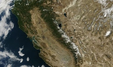 California drought satellite view