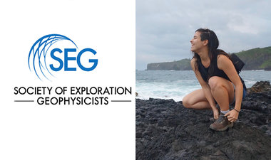 SEG logo and Fantine Huot